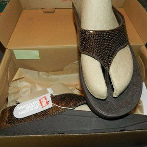 Women's Fitflop Ringer Bronze Sequin ~ 9B ~ NEW!
